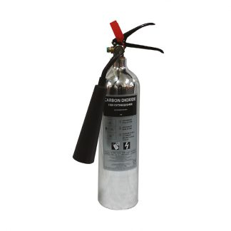 2kg co2 polished aluminium fire extinguisher