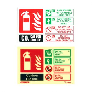 landscape co2 fire extinguisher id sign