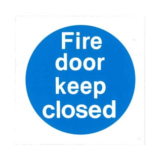 fire door keep closed self-adhesive sign