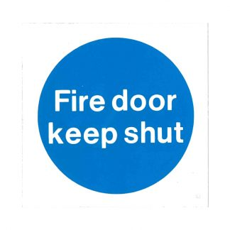 fire door keep shut self-adhesive sign