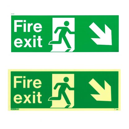 fire exit sign down right