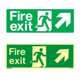 fire exit sign up right