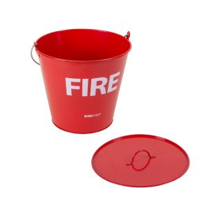 metal fire bucket and lid