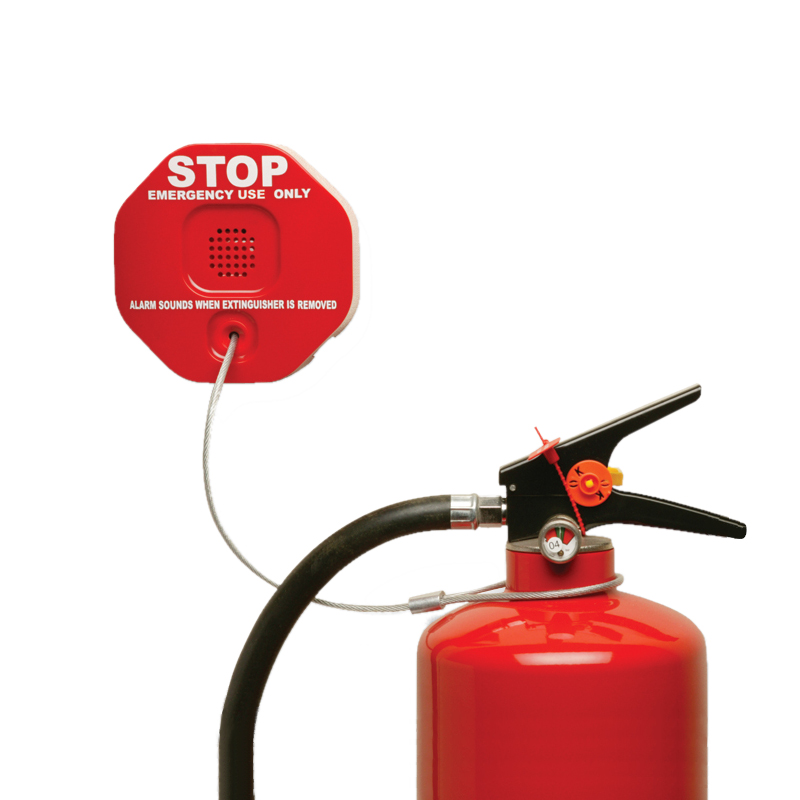extinguisher stopper alarm and red extinguisher
