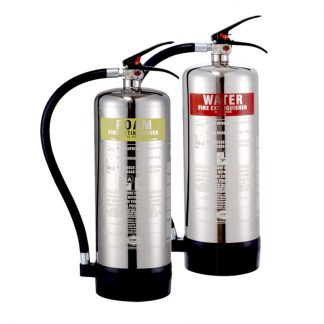 Chrome Effect Fire Extinguishers