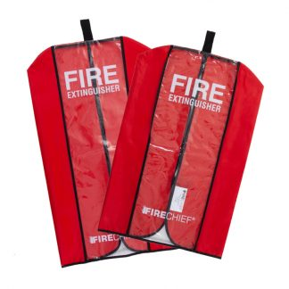 two extinguisher covers