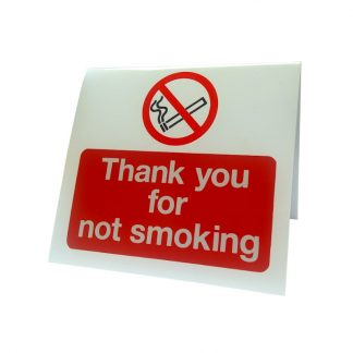 no smoking table top sign