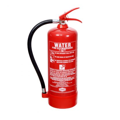 6 litre water fire extinguisher in red